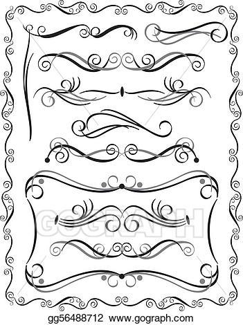 Divider clipart html. Vector art decorative borders