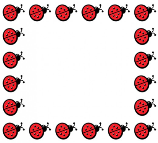 Free ladybug border cliparts. Ladybugs clipart divider