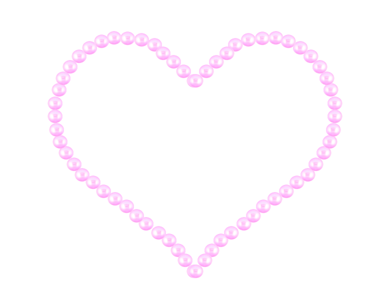 Heart by writerfairy on. Divider clipart pearl