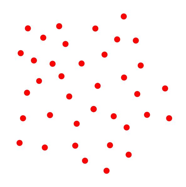 Red clip art white. Dot clipart flower