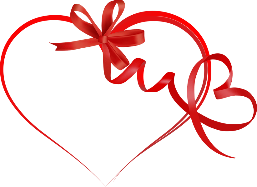Divider clipart ribbon. Hearts gallery by larry