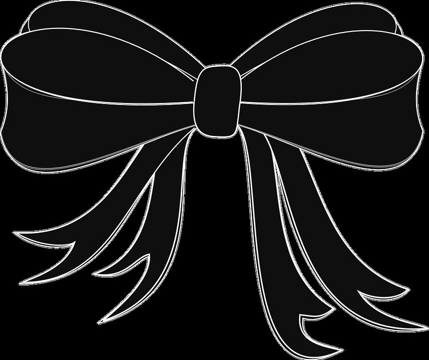 Black bow png transparent. Divider clipart ribbon