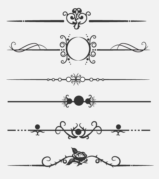 Dividers calligraphic download free. Divider clipart royal