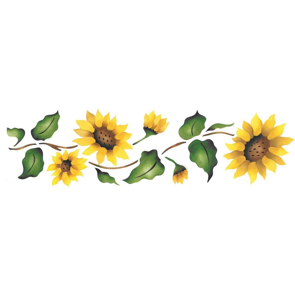 Divider clipart sunflower, Divider sunflower Transparent ...