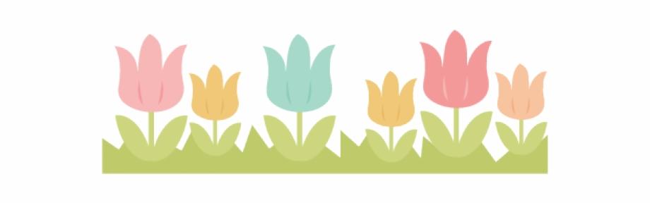 Divider clipart tulip. Border transparent spring free