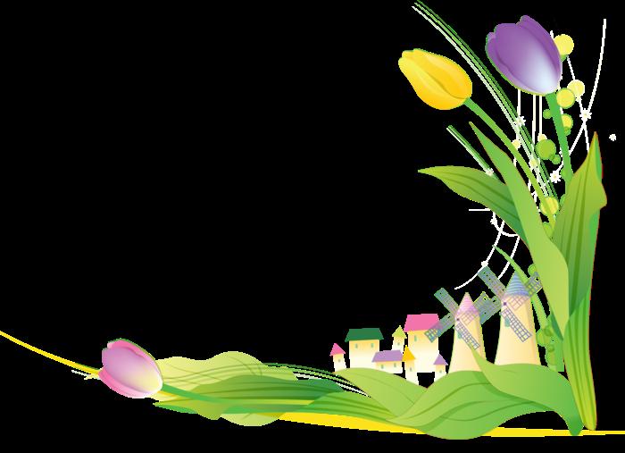 Forgetmenot flowers tulips publicat. Divider clipart tulip