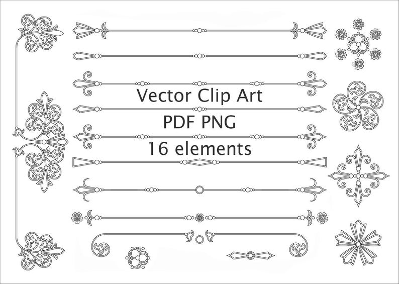 Divider clipart vector. Page line dividers text