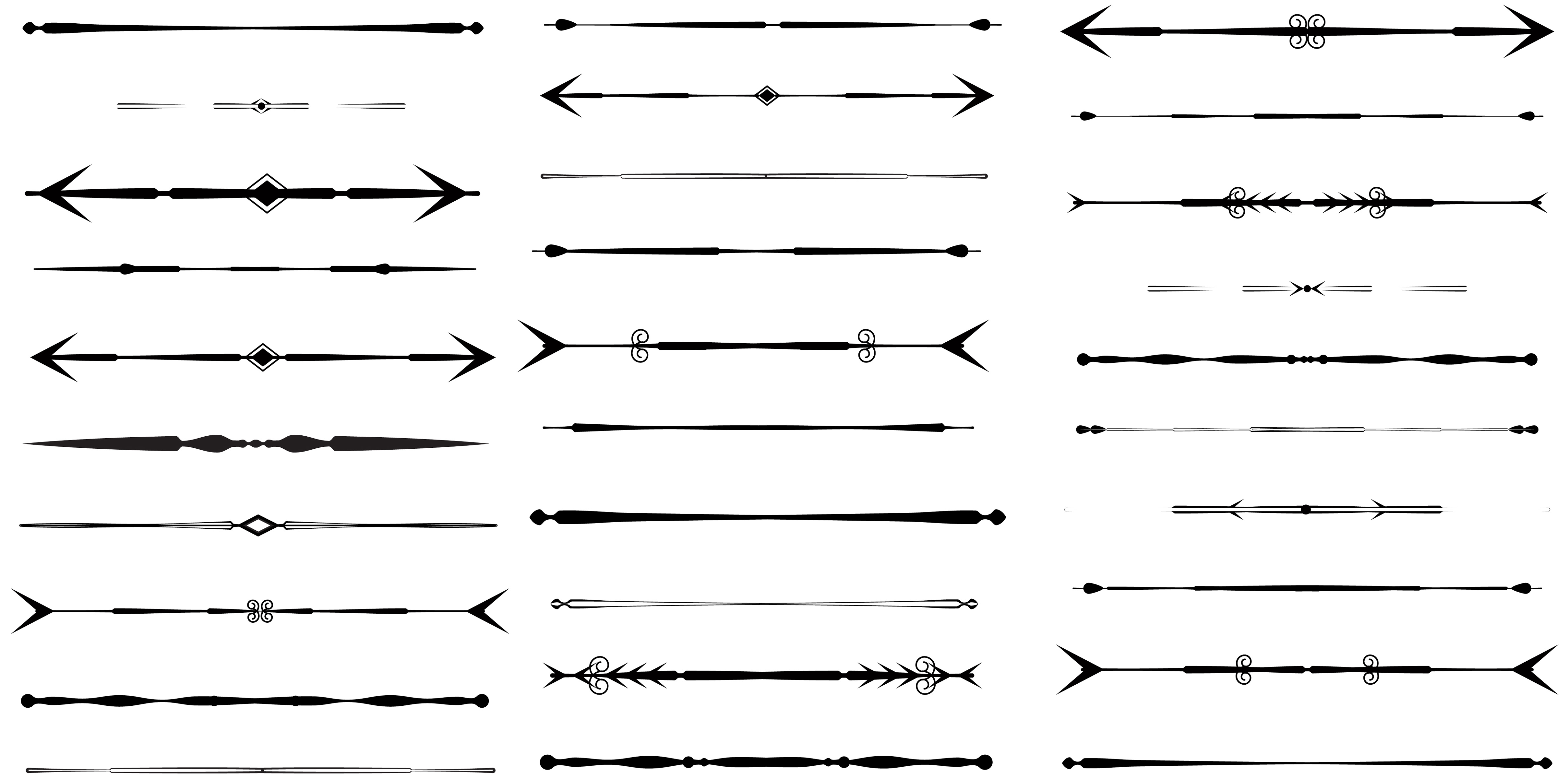 Divider clipart vector. Arrow design dividers clip