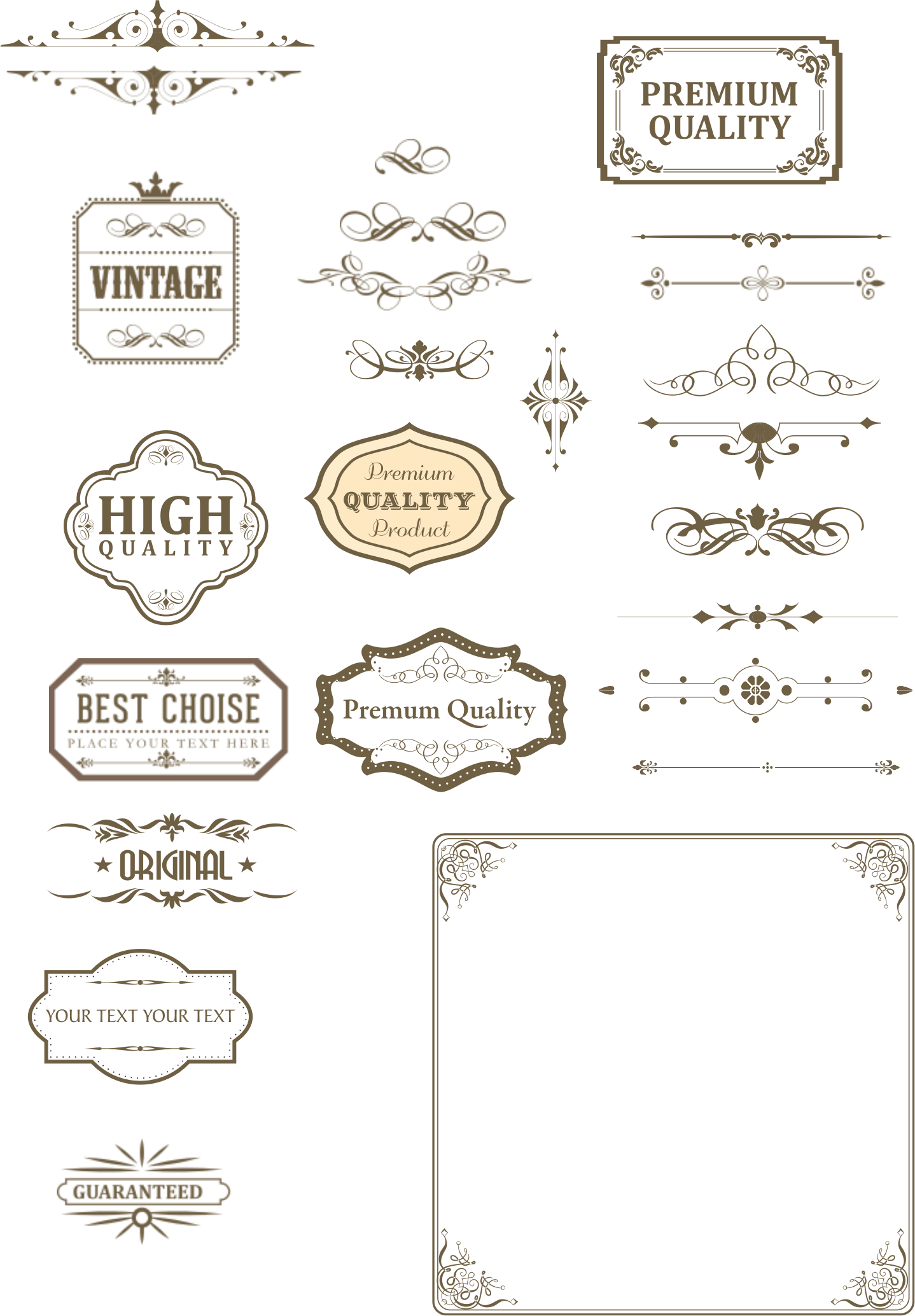 Vintage and dividers by. Square clipart square text box