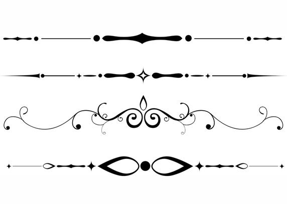 Free downloadable dividers work. Divider clipart victorian