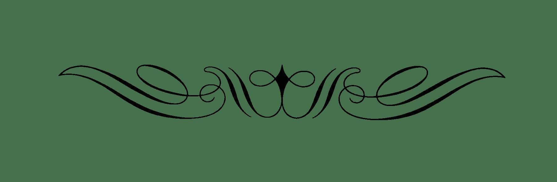 Curly art nouveau transparent. Divider clipart victorian