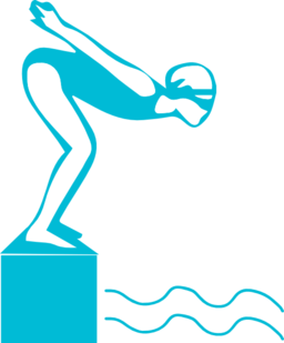 Swimmer . Diving clipart
