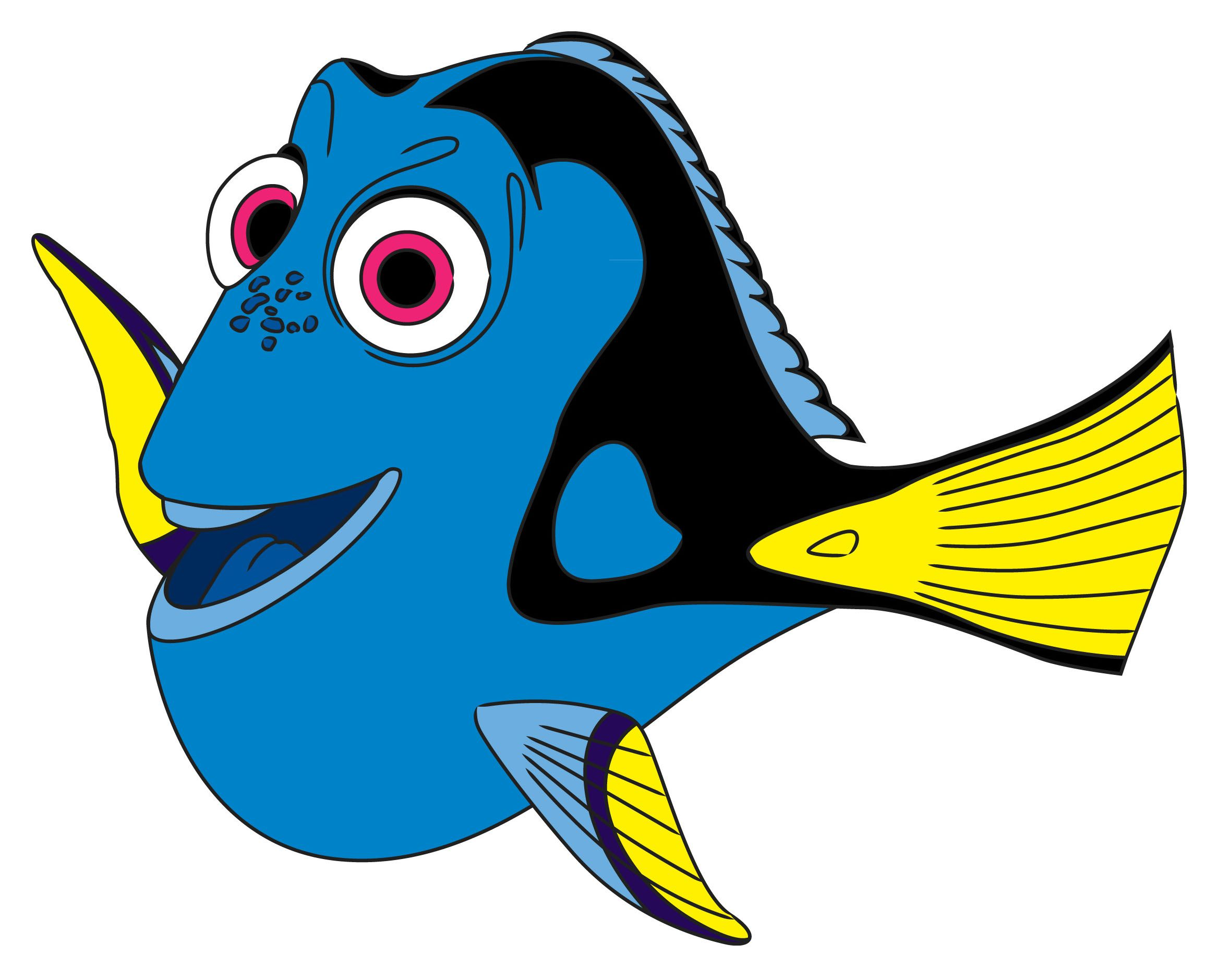 How to draw from. Dory clipart little fish