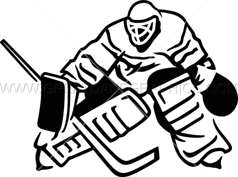 Hockey clipart line art.  collection of goalie