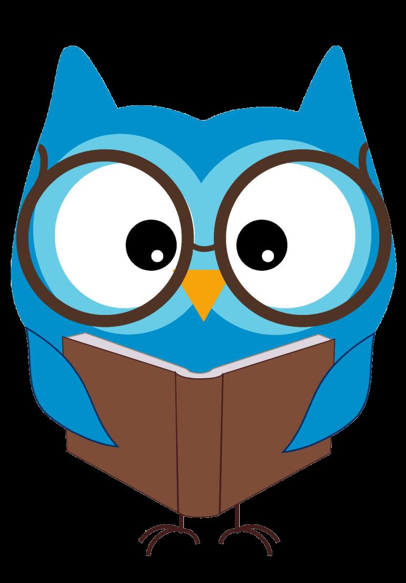 Book owl graphics illustrations. Owls clipart smart