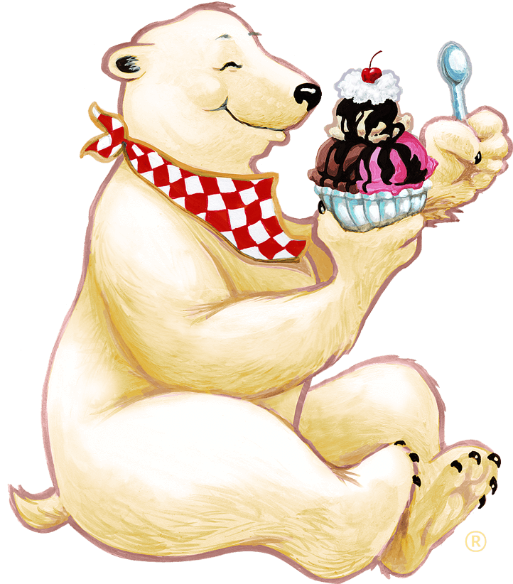 Diving clipart polar bear. Eating a herrell s