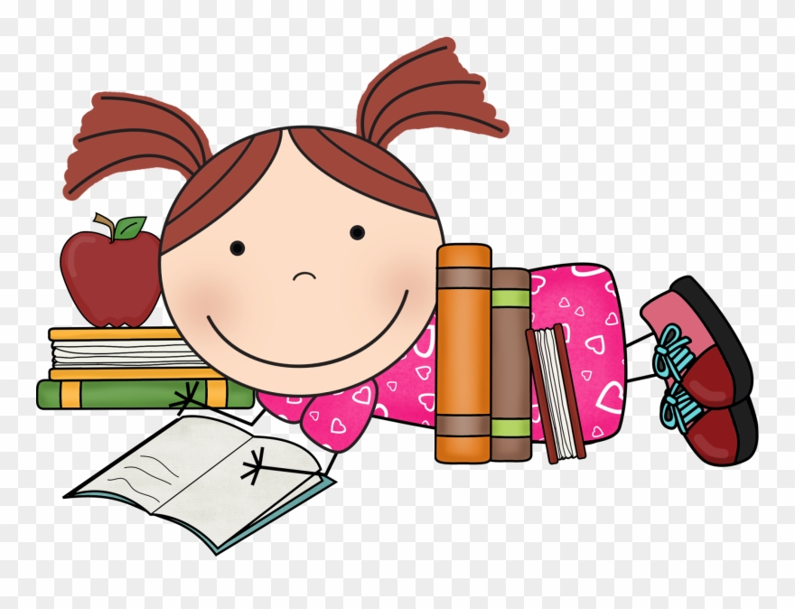 Scrappin doodles girl reading. Diving clipart school