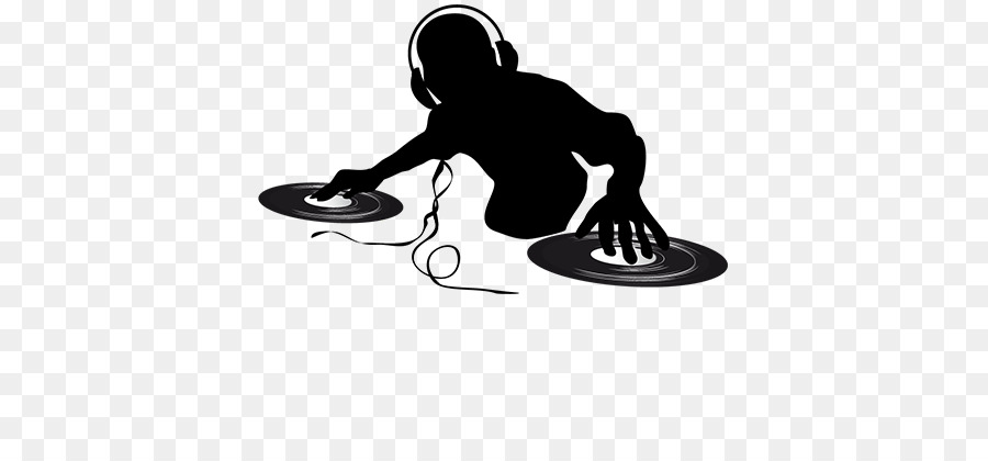Dj clipart. Logo music silhouette line