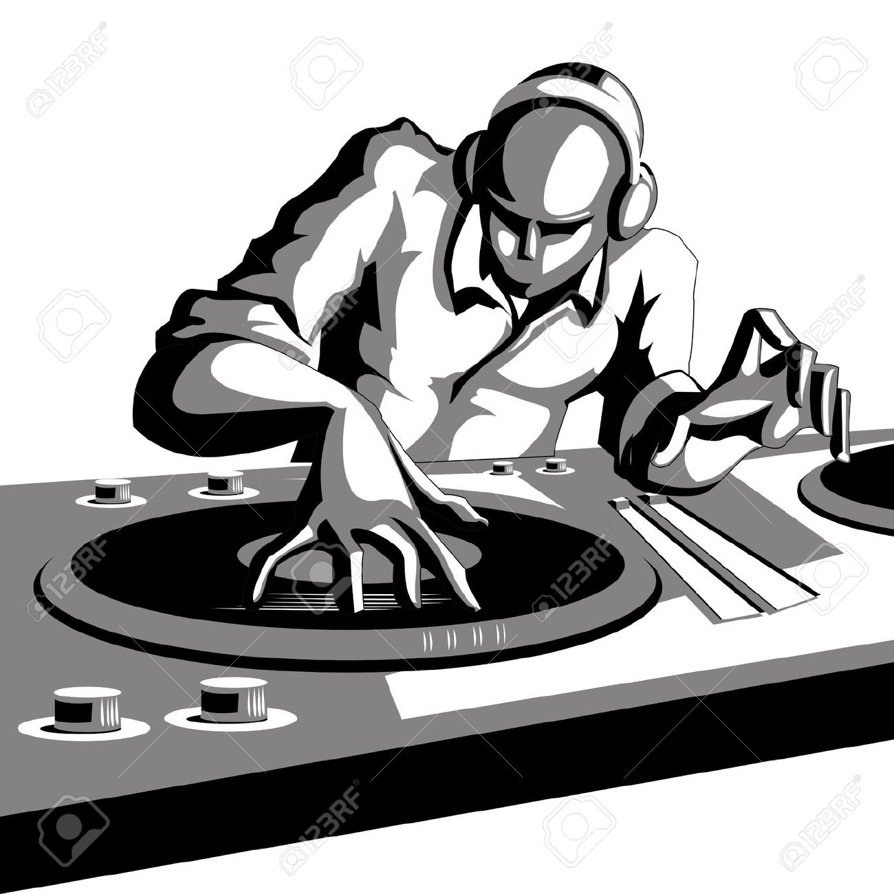 The mix pencil and. Dj clipart