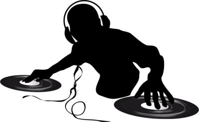 Silhouette transparent png stickpng. Dj clipart