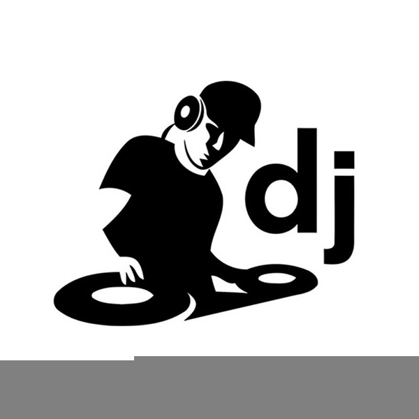 Black and white free. Dj clipart