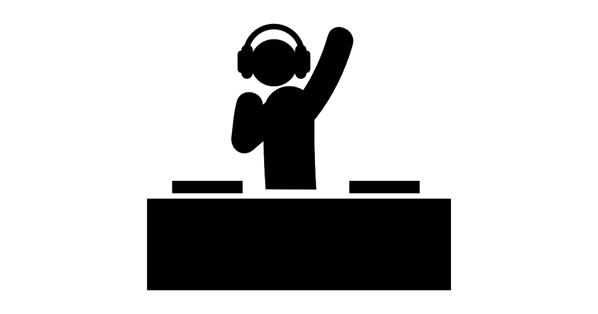 Dj clipart black and white. Png photos mart