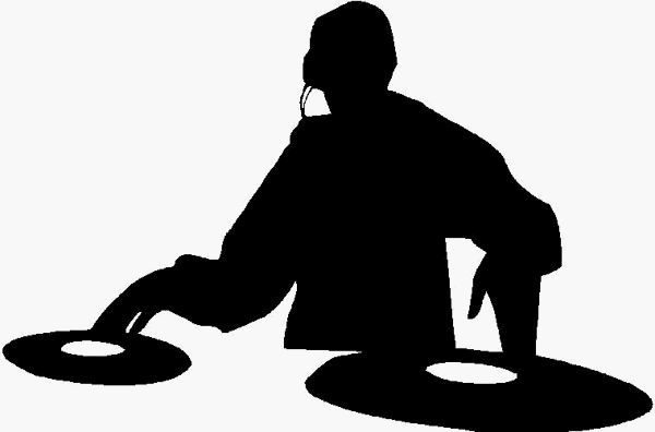 Free cliparts download clip. Dj clipart black and white