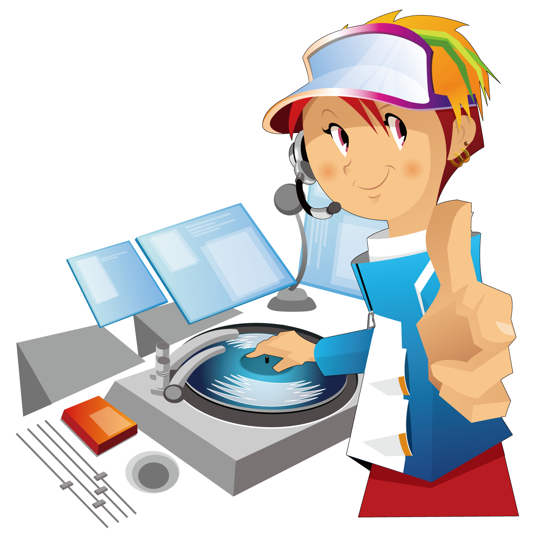 Dj clipart disc jockey. Autoradio disco s festival