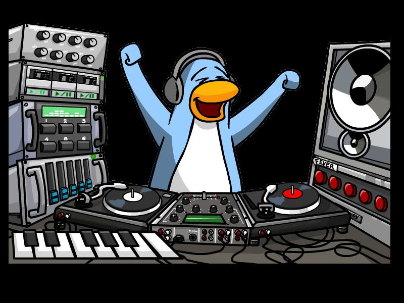 Club penguin png by. Dj clipart disc jockey