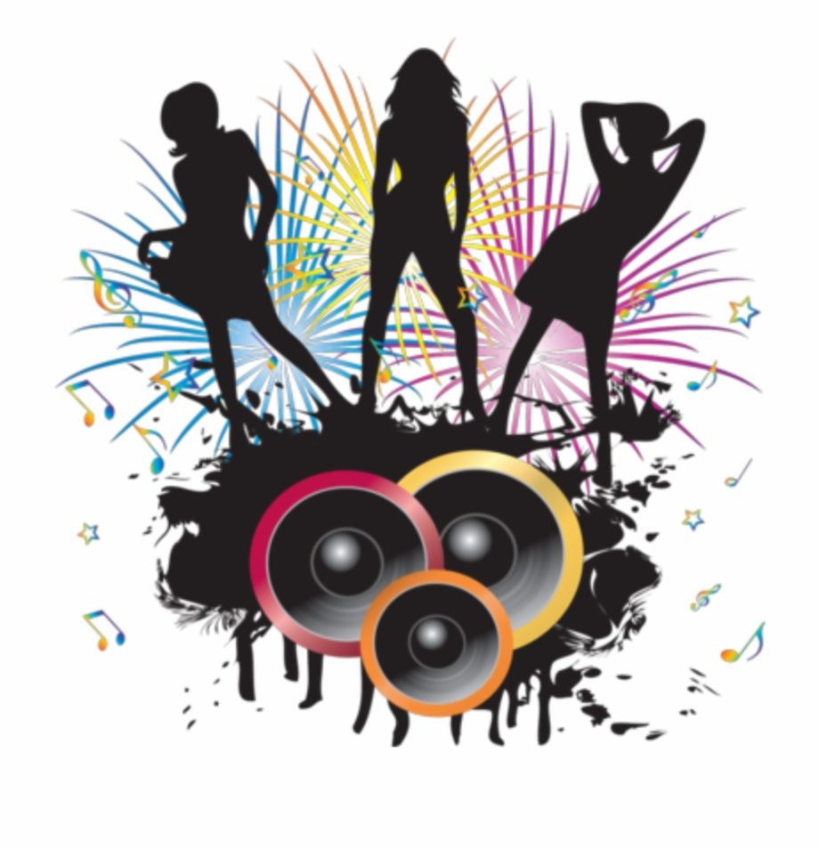 And music png clip. Dj clipart dj dance