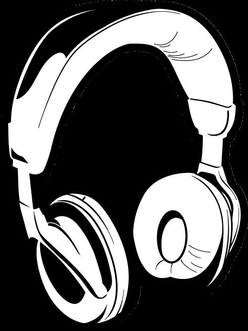 Headphones clipart line art. Drawing dj clip free