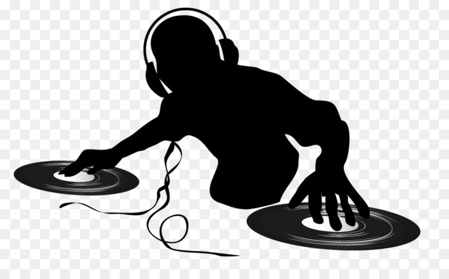 Dj clipart dj logo. Music black silhouette transparent