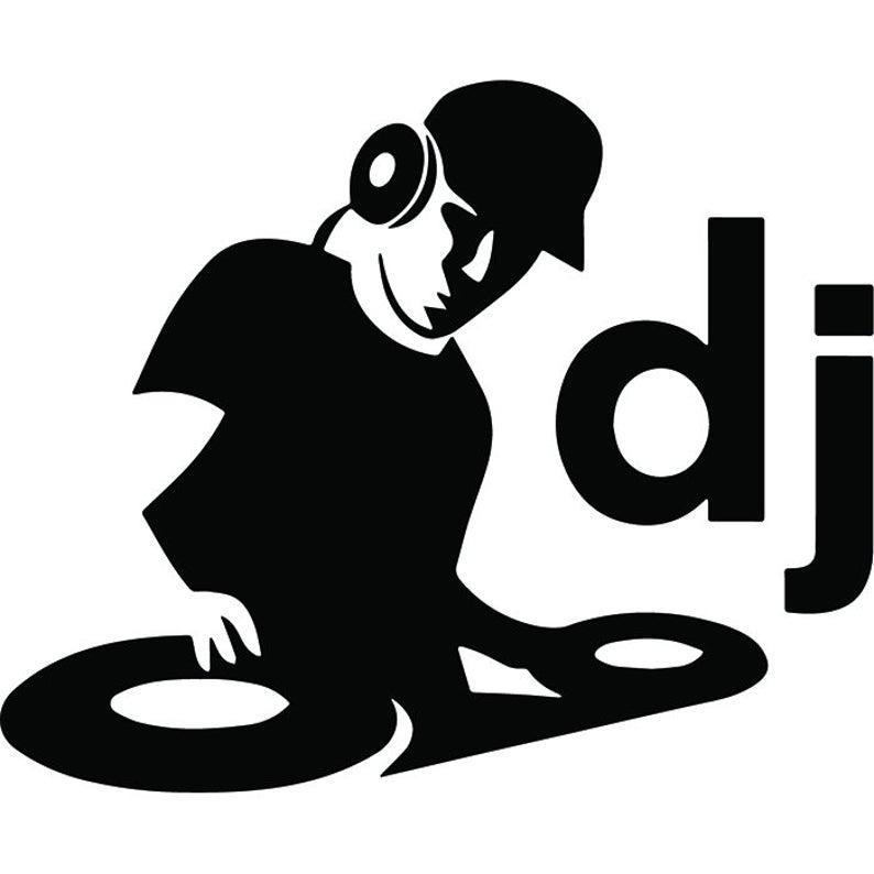 Dj clipart dj logo. Deejay turntable record player