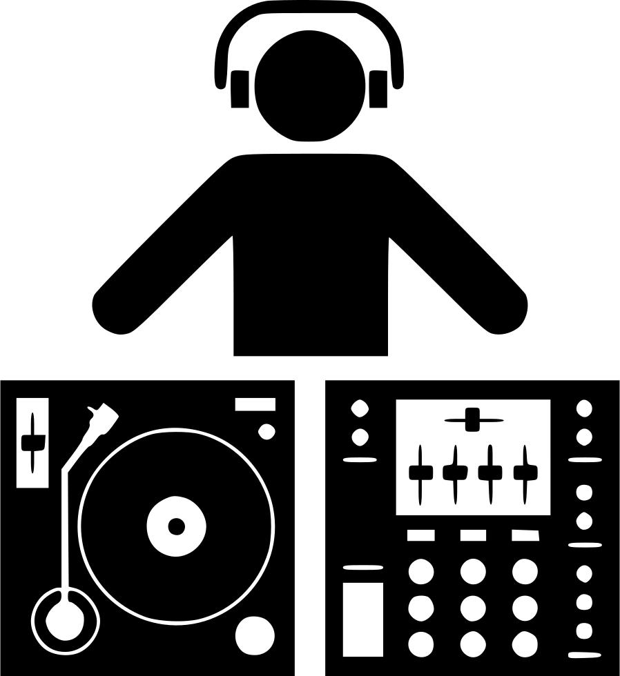 Headphone dj turntable