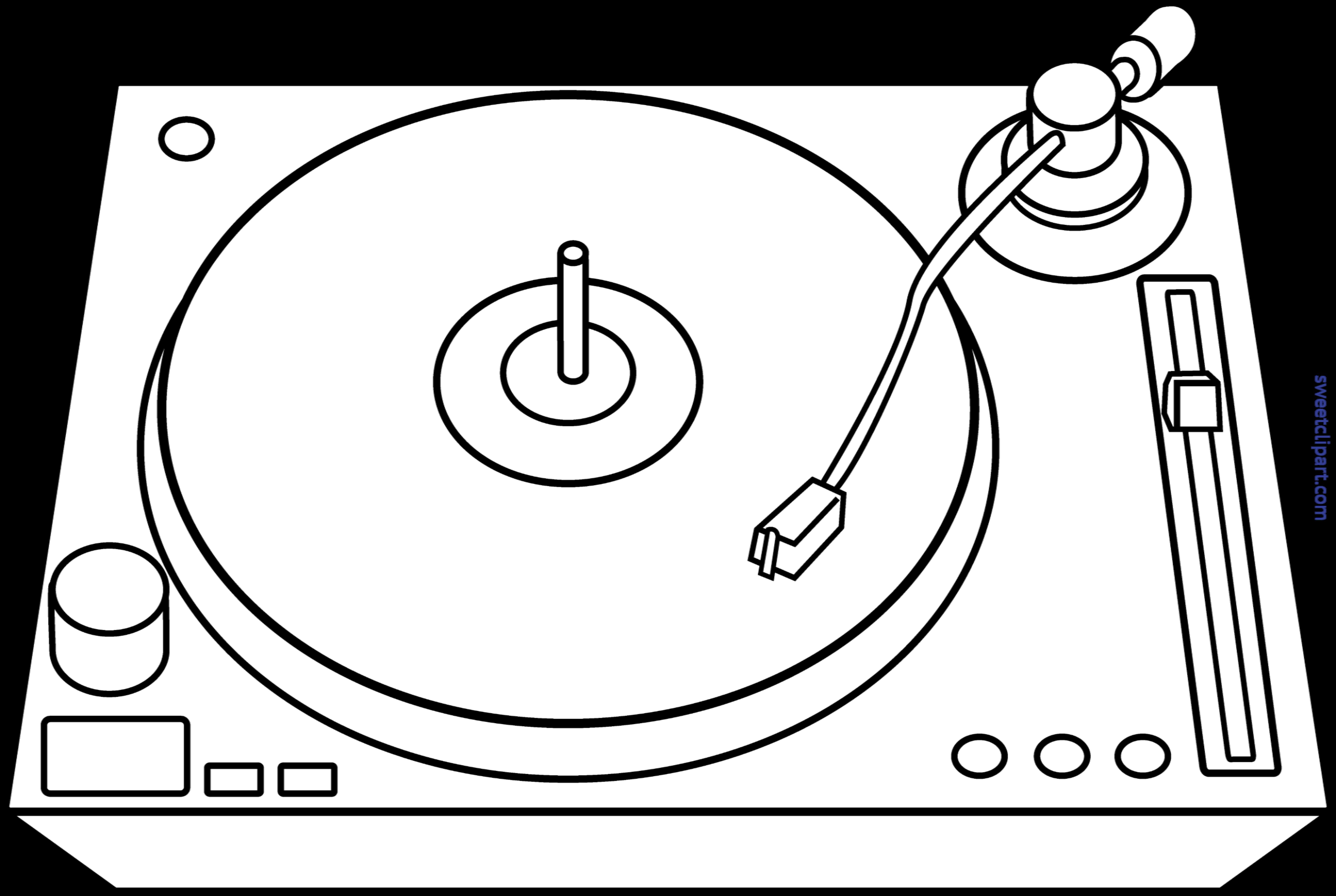 Turntable lineart clip art. Dj clipart dj mix