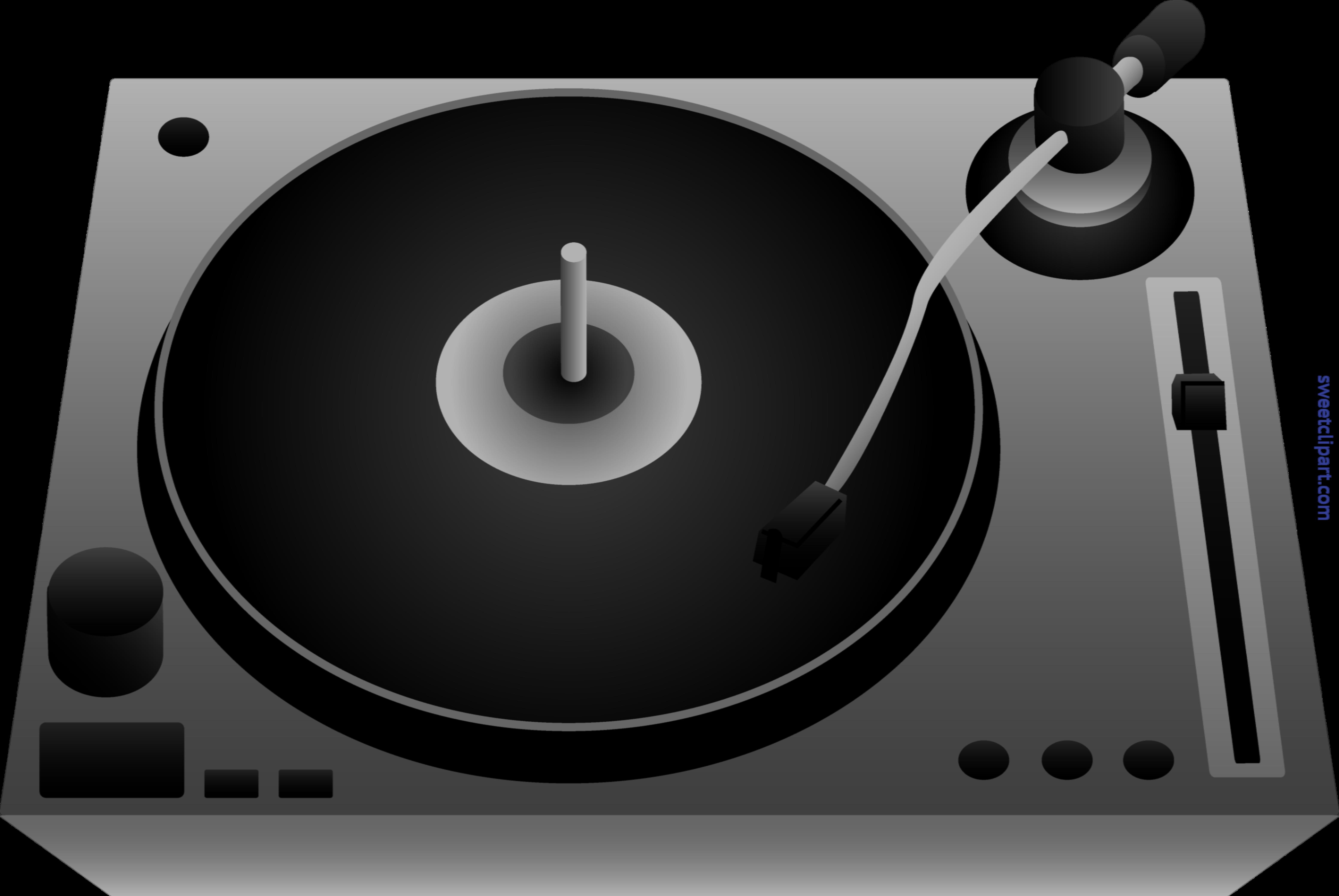 Dj clipart dj turntable. Black clip art sweet