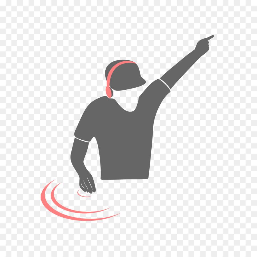 Dj clipart hand. Logo black silhouette transparent