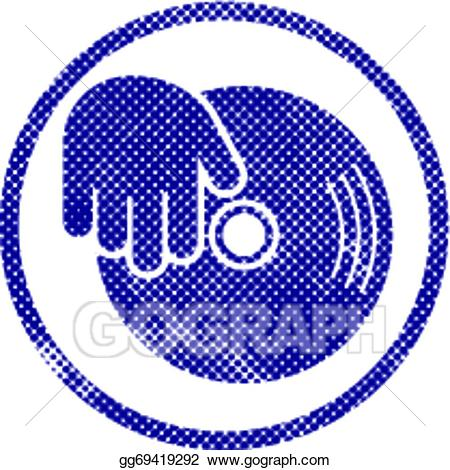 Dj clipart hand. Vector vinyl and icon
