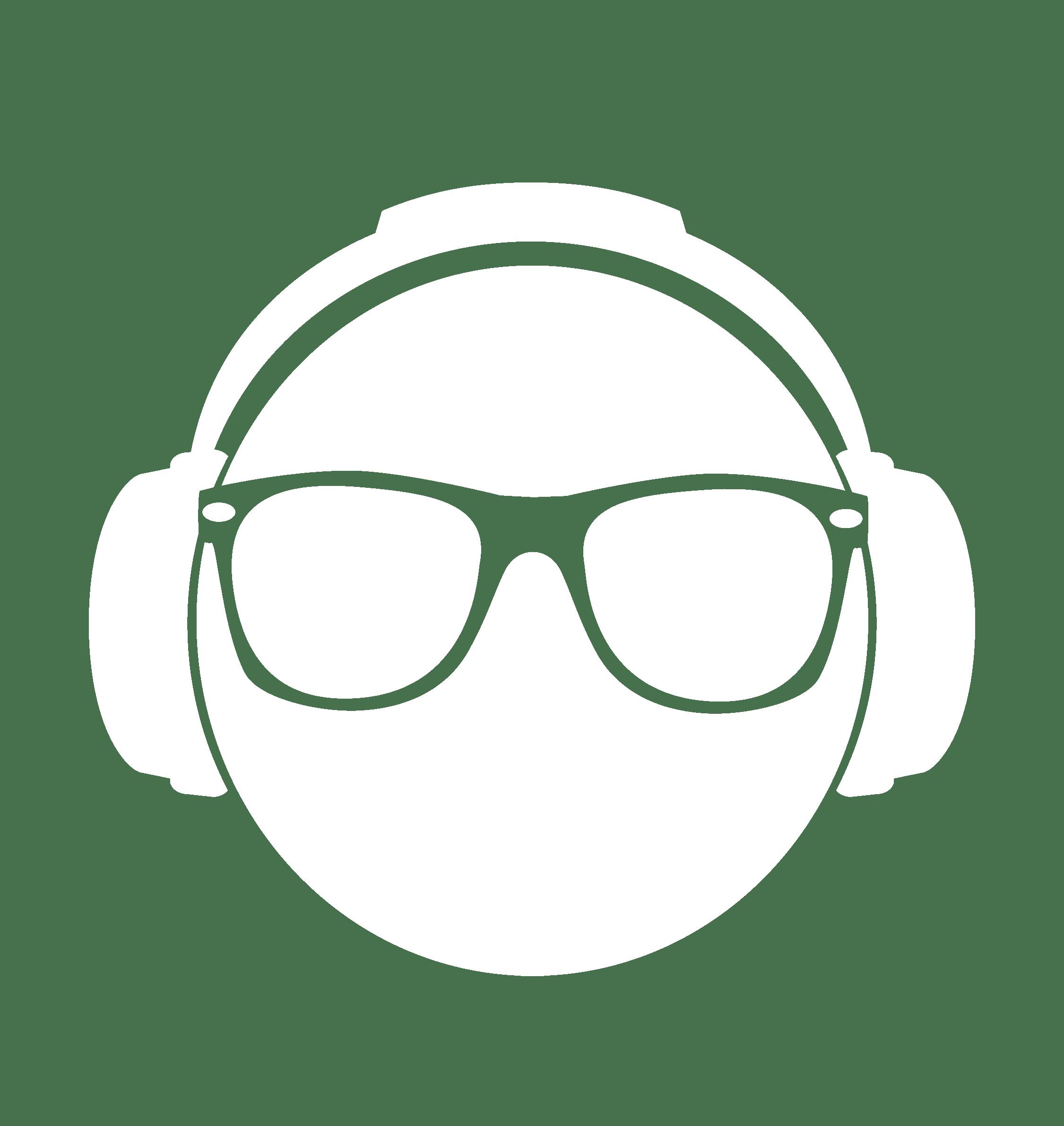 Dj clipart head phone. Silent disco djs headphone