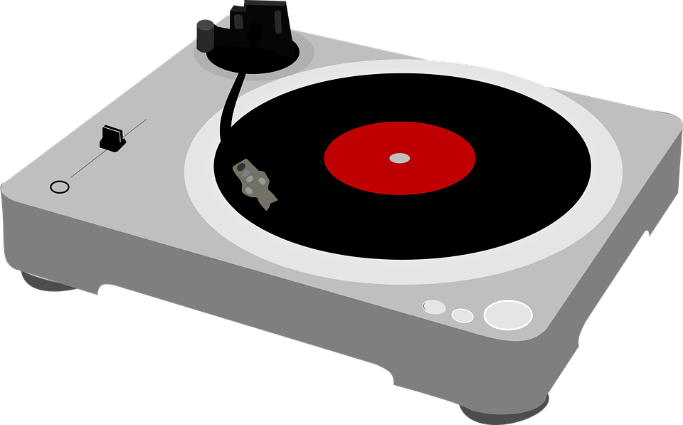 Record player pencil and. Dj clipart lady dj