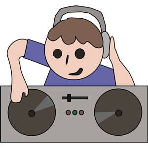 Man cliparts of free. Dj clipart male