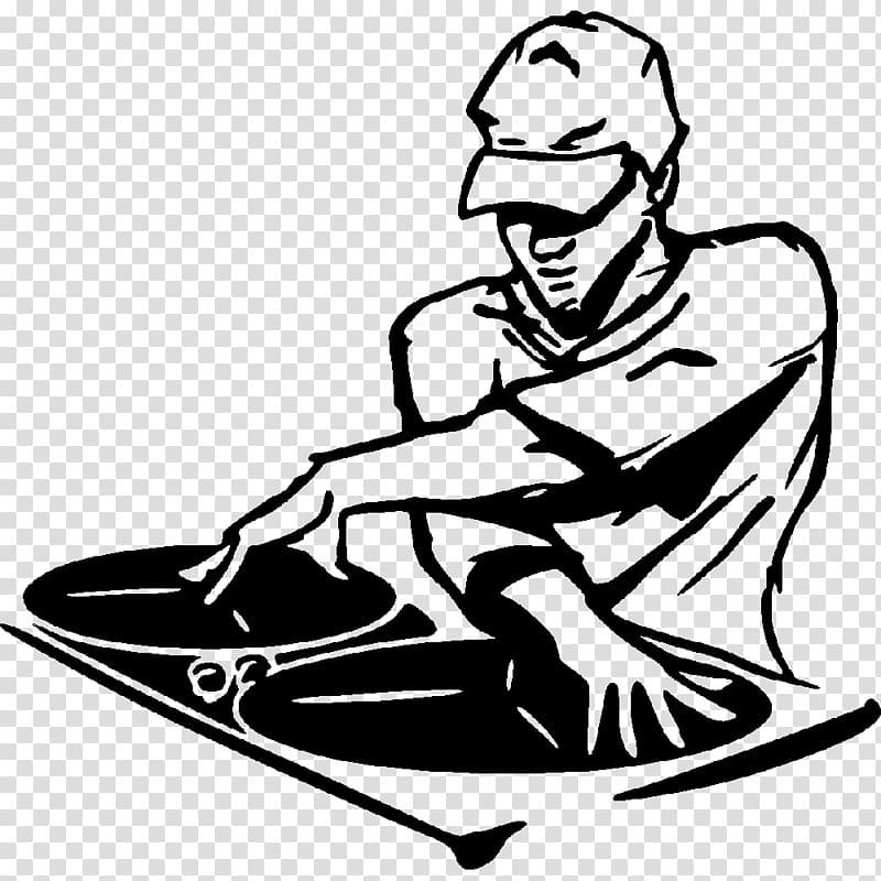 Man doing illustration disc. Dj clipart male
