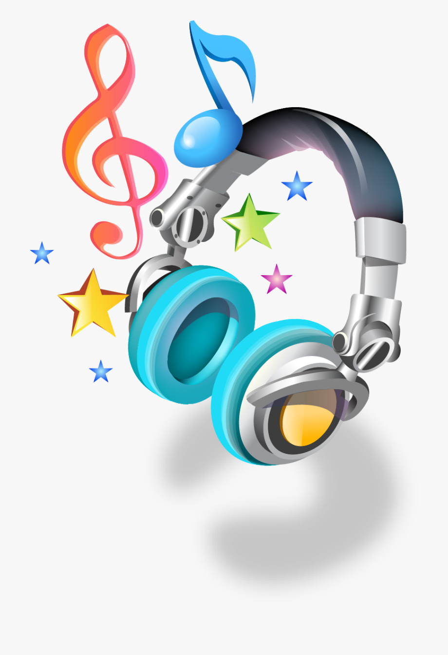 Dj clipart music note. Notes png and headphones