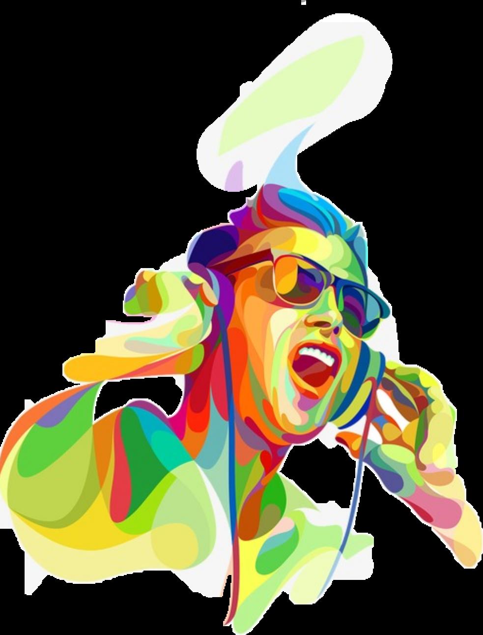 Dj clipart pop music. Guy headphones sound yell