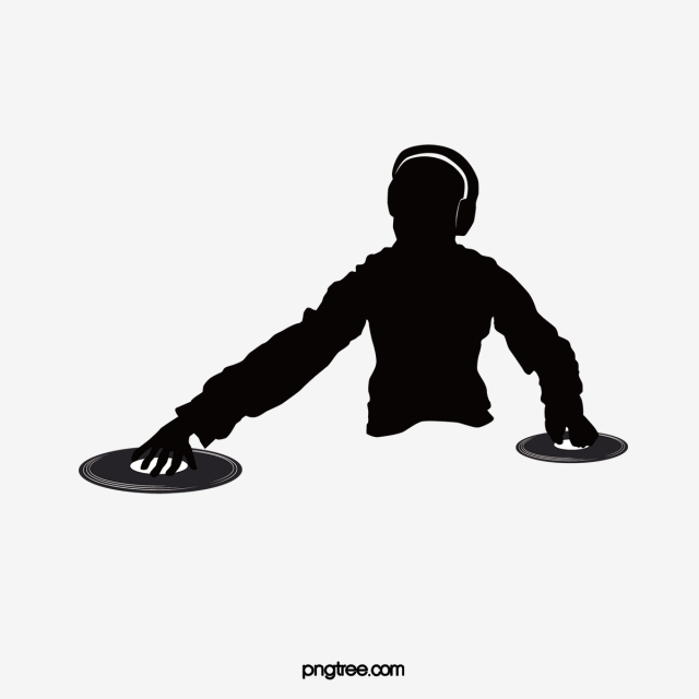 Material image . Dj clipart silhouette