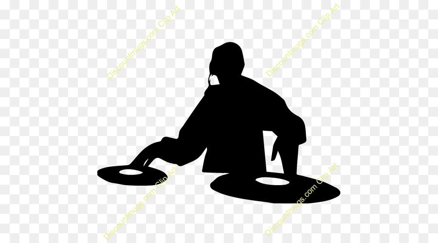 Dj clipart silhouette. Logo music line transparent