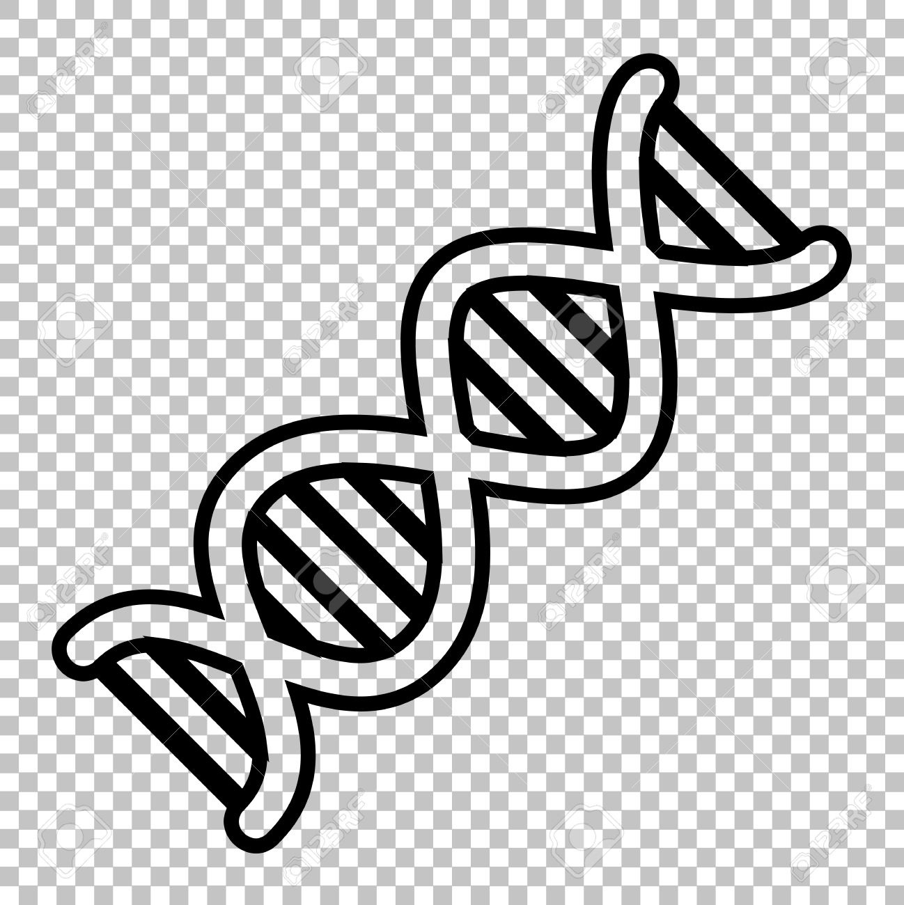 Dna clipart. Transparent background writings and