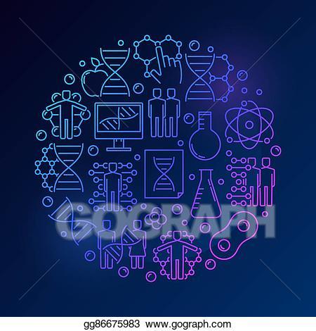 Vector biochemistry and illustration. Dna clipart biochem