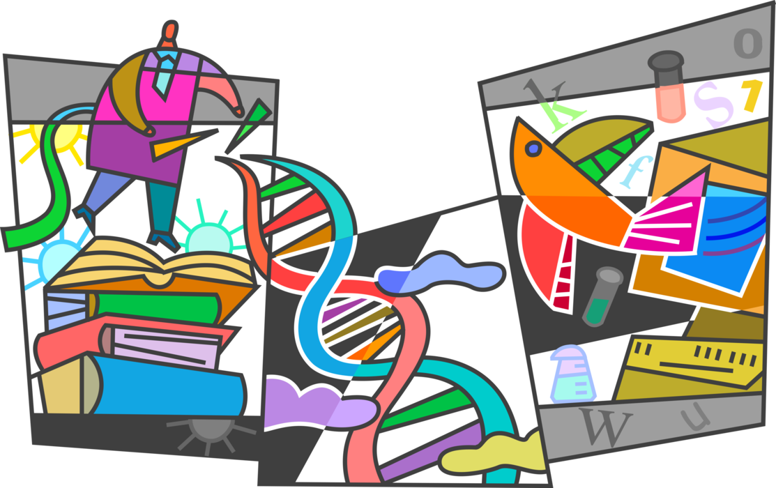 Genetic engineering or modification. Dna clipart biotech