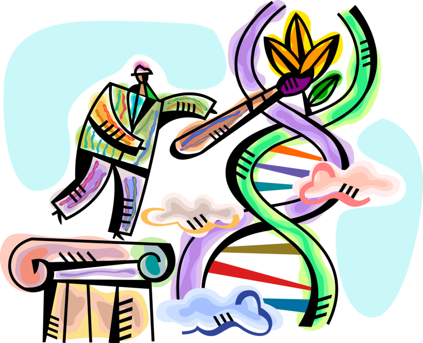 Dna clipart biotech. Genetic engineering or modification